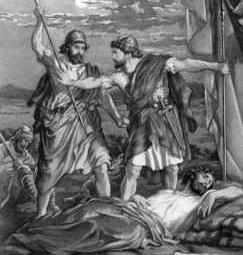 David perdona la vida a Saúl en En-gadi